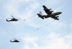 Operación del reaprovisionamiento aéreo Fotos de archivo