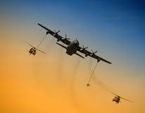 Operación del reaprovisionamiento aéreo Imagenes de archivo