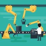 Operación del robot del transportador Imágenes de archivo libres de regalías