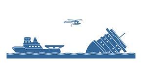 Operación del salvamento libre illustration