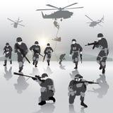 Operación militar ilustración del vector