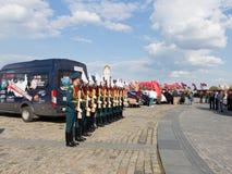 Operación militar en Victory Park Imágenes de archivo libres de regalías