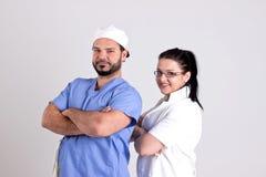 Operaci drużyna Doktorska kobieta i chirurg Zdjęcie Stock