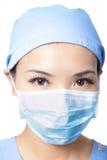 Operaci kobiety lekarki twarz z maską Obraz Stock