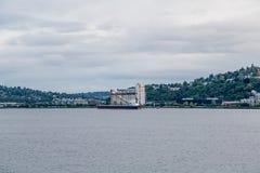 Operación del cargamento de la nave de Silo Fotografía de archivo