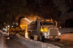 Operaciones de la retirada de la nieve Fotografía de archivo