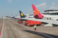Operaciones de tierra del aeropuerto Imagen de archivo