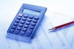 Operacyjny budżet, kalkulator i ołówek, fotografia royalty free