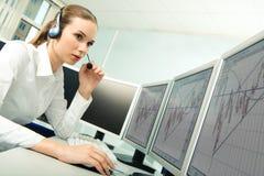 Operador útil Imagens de Stock Royalty Free