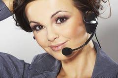 Operador agradável da linha de apoio a o cliente Fotografia de Stock Royalty Free