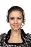 Operador alegre del servicio de atención al cliente fotos de archivo