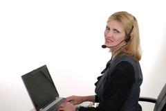 Operador atractivo 4 del servicio de atención al cliente Fotos de archivo