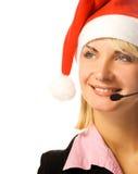 Operador bonito do telefone Imagem de Stock Royalty Free