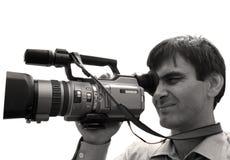 Operador cinematográfico. Foto de Stock