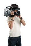 Operador cinematográfico. Fotografia de Stock