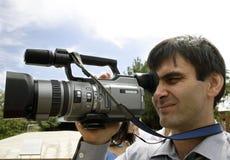 Operador cinematográfico foto de stock