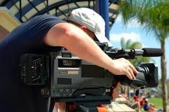 Operador cinematográfico da notícia Fotografia de Stock