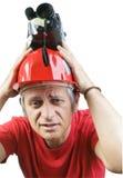 Operador cinematográfico Headache foto de stock royalty free