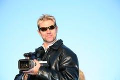 Operador cinematográfico video Imagens de Stock