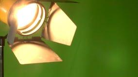 Operador cinematográfico no estúdio video estoque