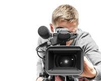 Operador da câmara de vídeo Fotos de Stock