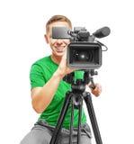 Operador da câmara de vídeo Fotografia de Stock Royalty Free