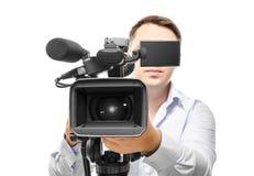 Operador da câmara de vídeo Foto de Stock Royalty Free
