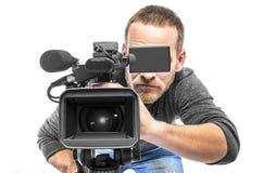 Operador da câmara de vídeo Imagens de Stock Royalty Free