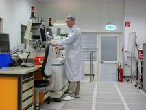 Operador da estação de medição Foto de Stock