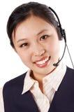 Operador da linha de apoio a o cliente Fotografia de Stock