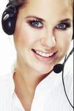 Operador da linha de apoio a o cliente Imagem de Stock