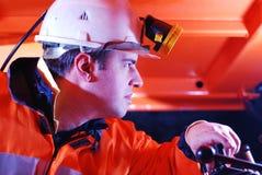 Operador da maquinaria pesada Fotografia de Stock