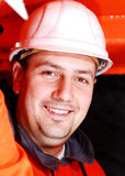 Operador da maquinaria pesada Fotos de Stock