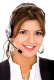 Operador da sustentação do cliente empresa Imagens de Stock Royalty Free