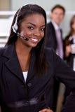 Operador da sustentação do cliente empresa Fotografia de Stock Royalty Free