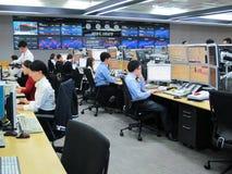 Operador das transações de operação bancária Imagens de Stock