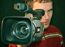 Operador de Cameraman_camera Fotografía de archivo libre de regalías