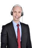 Operador de centro de atención telefónica Fotos de archivo libres de regalías