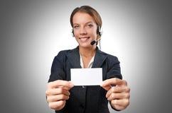 Operador de centro de atención telefónica Fotografía de archivo libre de regalías
