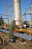 Operador de gás Fotos de Stock Royalty Free