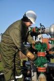 Operador de gas Foto de archivo