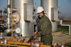 Operador de gas Fotografía de archivo libre de regalías