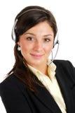 Operador de la ayuda del cliente empresa foto de archivo
