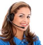 Operador de la ayuda del cliente empresa Imagenes de archivo