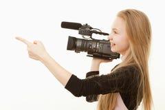 Operador de la cámara Foto de archivo libre de regalías
