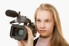 Operador de la cámara Imagenes de archivo
