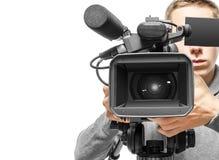 Operador de la cámara de vídeo Fotografía de archivo libre de regalías
