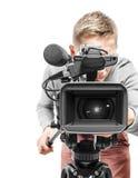 Operador de la cámara de vídeo Imagen de archivo libre de regalías