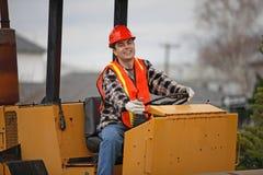 Operador de la construcción Fotografía de archivo libre de regalías