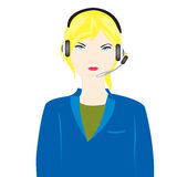 Operador de la muchacha Imagen de archivo libre de regalías